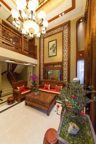 中式别墅装修沙发茶几图片