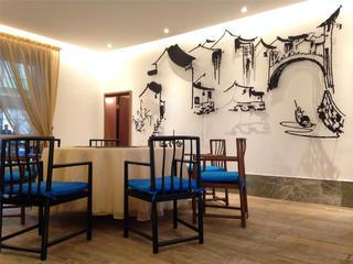 中式会所装修餐厅设计图