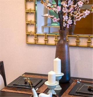 110平新中式风格装修餐厅小景