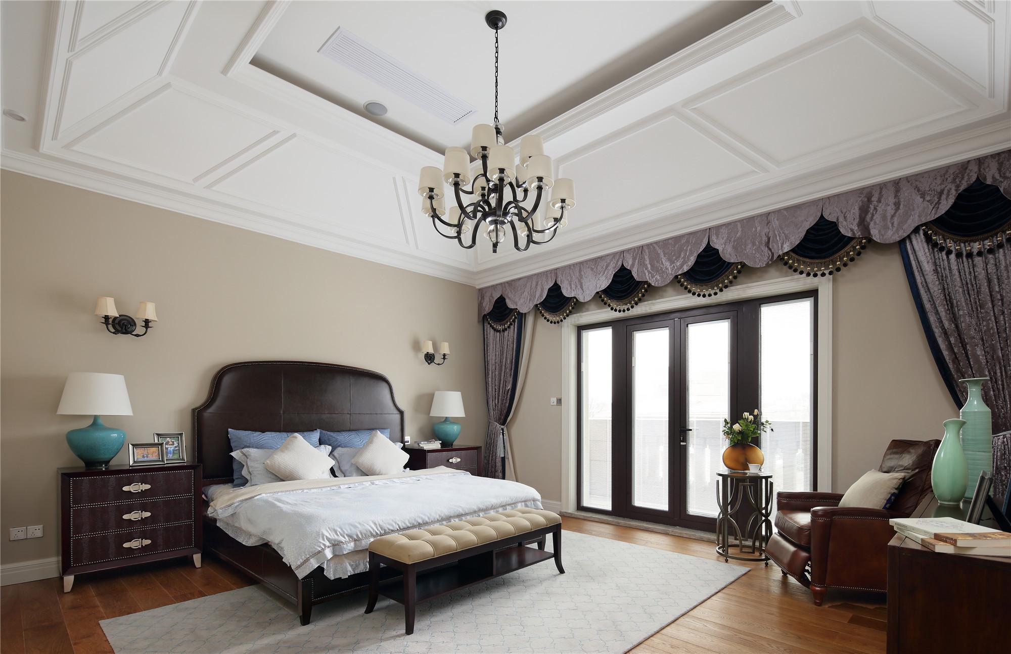 美式别墅装修主卧设计图