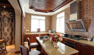 古典美式别墅装修厨房设计图