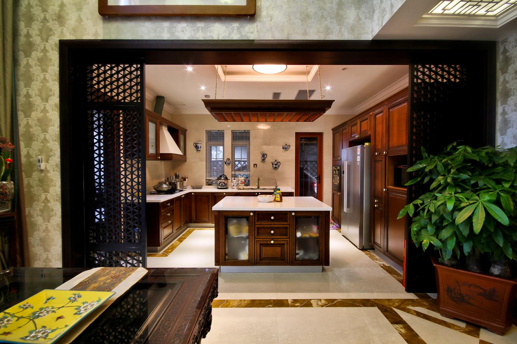 大户型古典中式装修厨房搭配图
