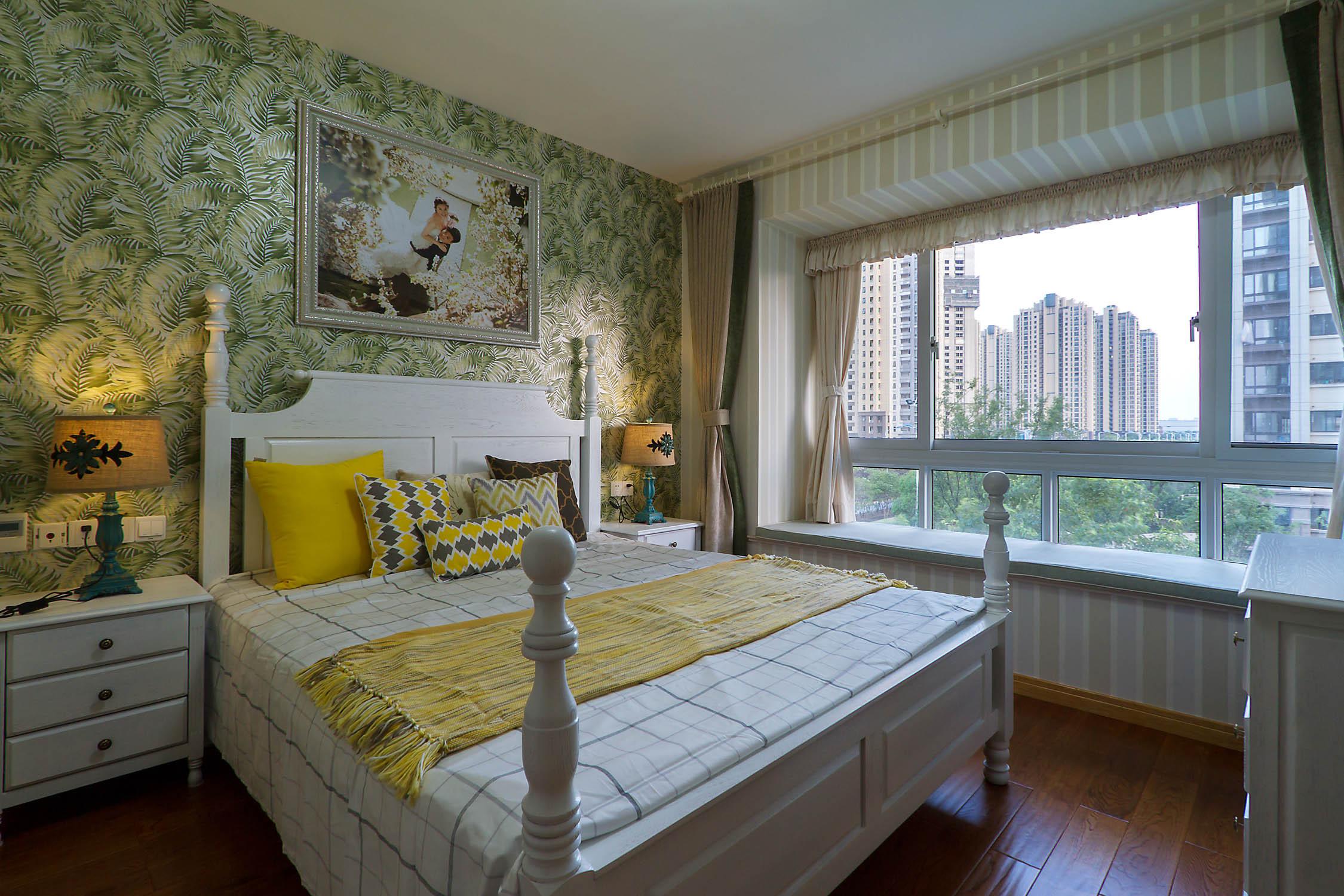 126平美式装修卧室效果图