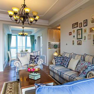 两居室美式风格家 稳重温馨