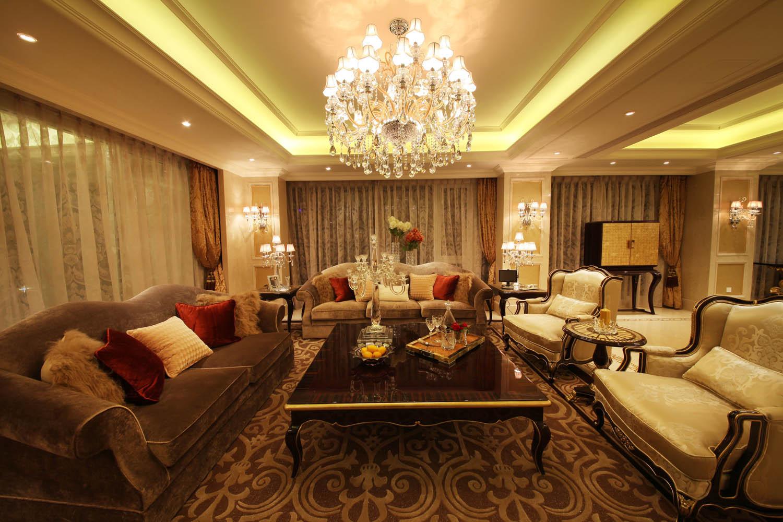 大户型欧式风格装修客厅效果图