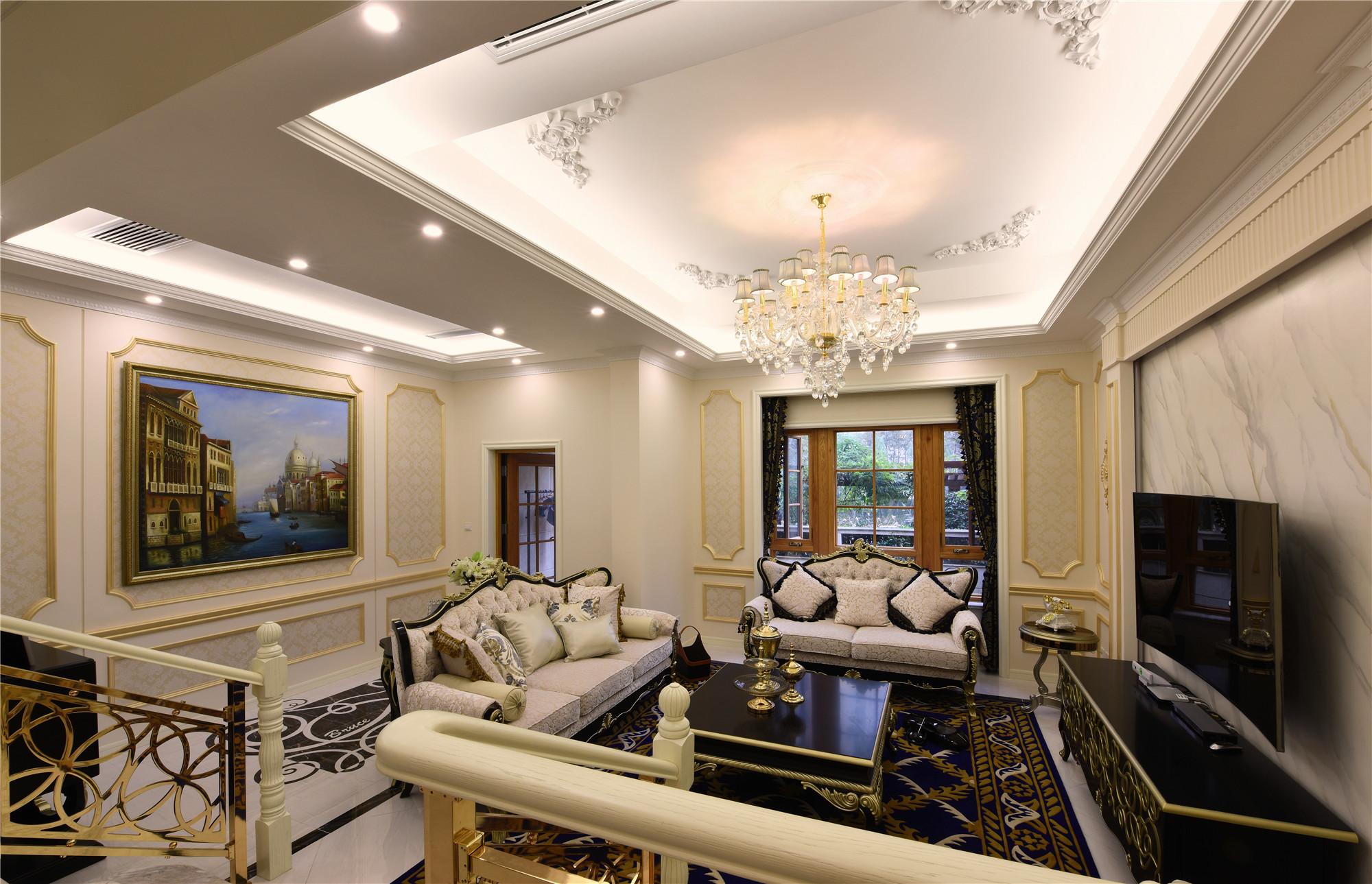 欧式风格别墅装修客厅布置图
