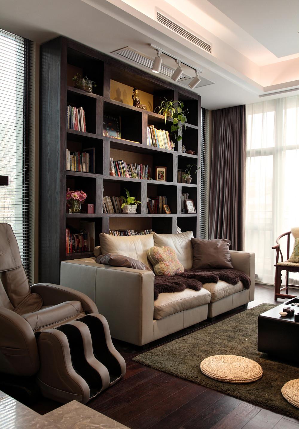 新中式别墅装修书架设计