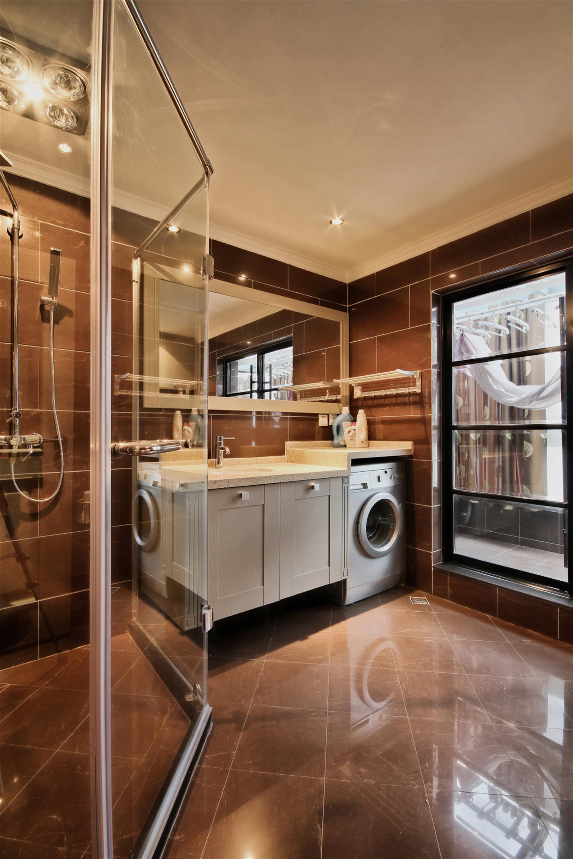 摩登新中式别墅装修卫生间设计图