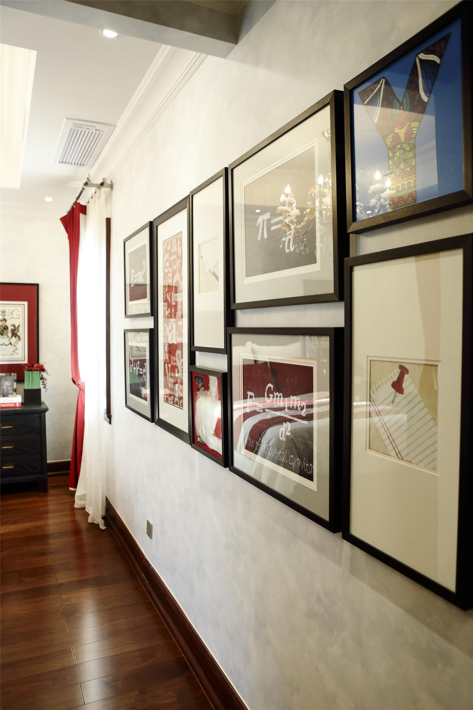 大户型现代风格装修装饰挂画布置