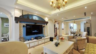 美式别墅装修电视背景墙设计