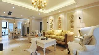 美式别墅装修沙发背景墙设计