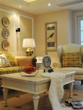 美式别墅装修客厅一角