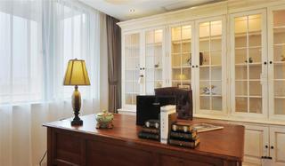 美式别墅装修书房效果图