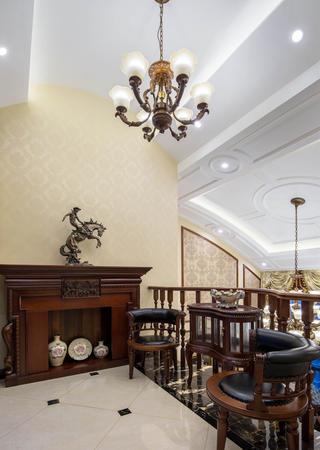 新古典美式装修休闲区