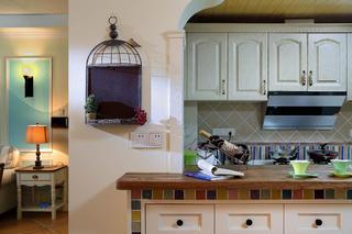 125平美式乡村家厨房细节
