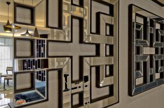 现代简约三居墙面装饰特写