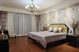 新中式风格复式装修卧室效果图