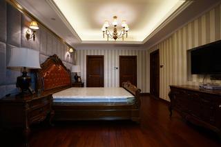 复式美式四房装修主卧布置图