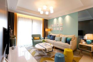 宜家风格二居装修沙发背景墙图片