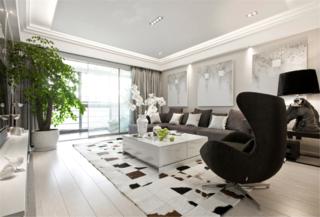 现代简约三居客厅设计图