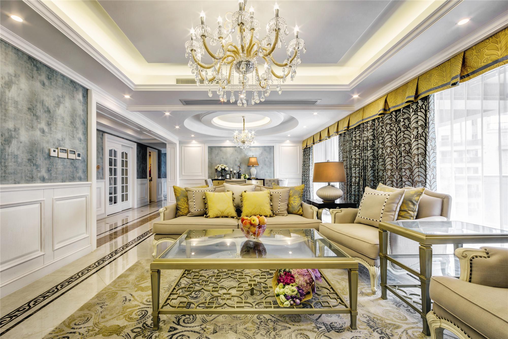 欧式三居装修客厅效果图