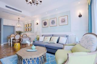 混搭风格三居之家沙发背景墙图片