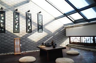 中式田园风格家阳光房欣赏图