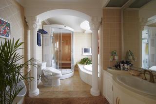 欧式风别墅装修卫生间设计图