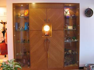 现代中式风格二居装修储物柜设计