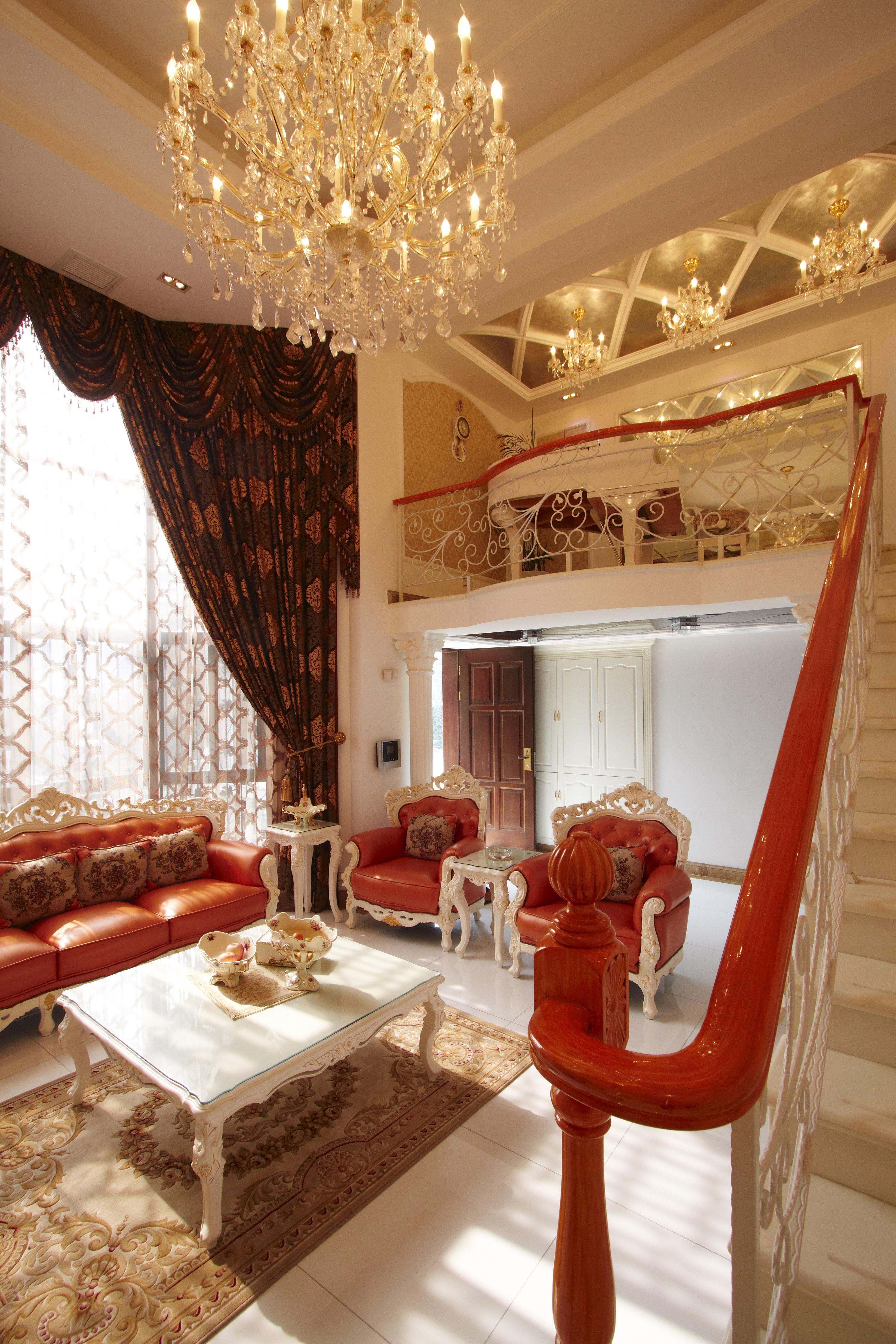 欧式风别墅装修客厅设计图