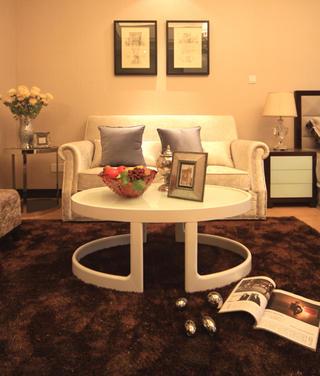 酒店式公寓装修沙发茶几图片