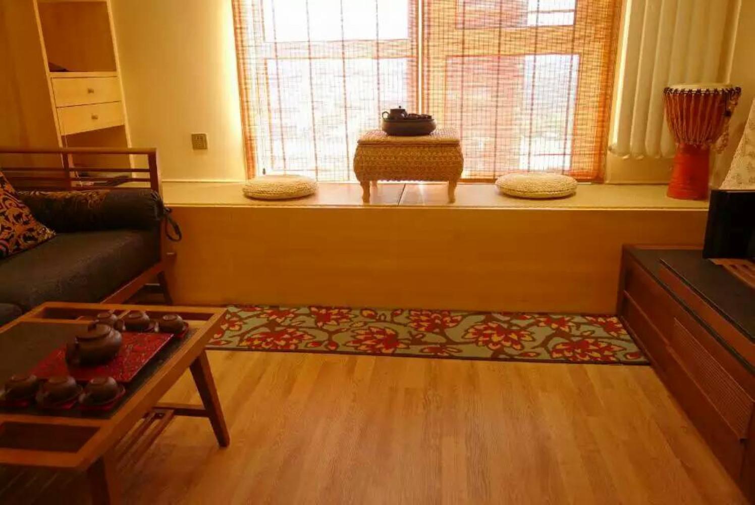 东南亚风格二居茶台设计
