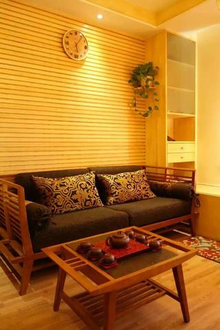 东南亚风格二居沙发背景墙图片