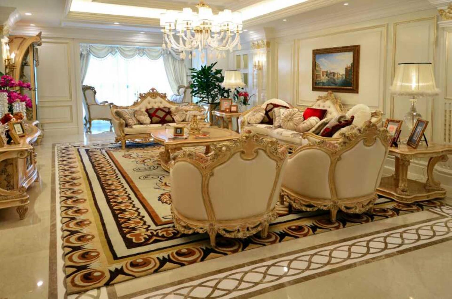 欧式装修客厅装潢图
