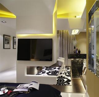 小户型公寓装修电视墙设计