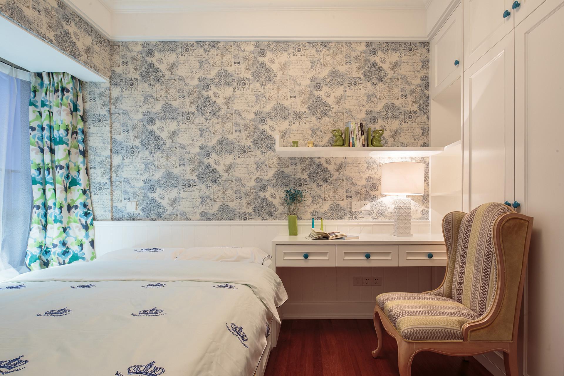 135平美式风格家次卧设计图