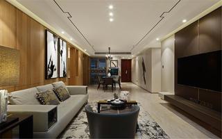 140平现代风格装修客厅设计图
