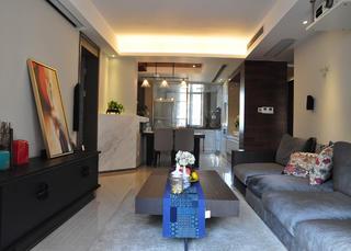 现代风格三居室装修客厅设计图
