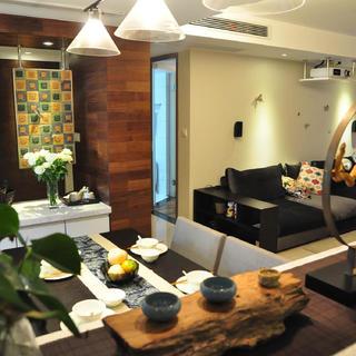 现代风格三居室装修实景图