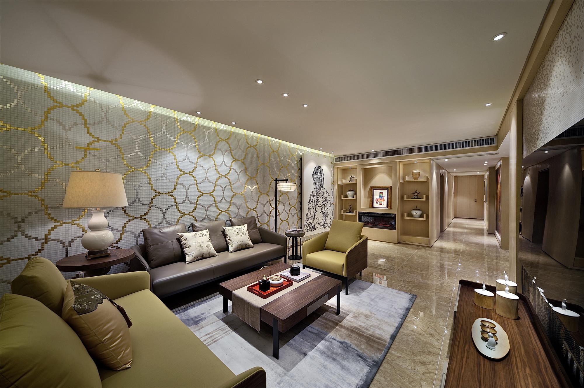 大户型现代简约家沙发背景墙图片