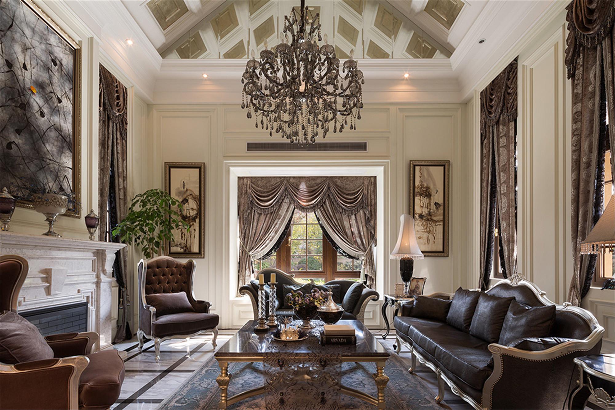 新古典风格别墅装修客厅设计图