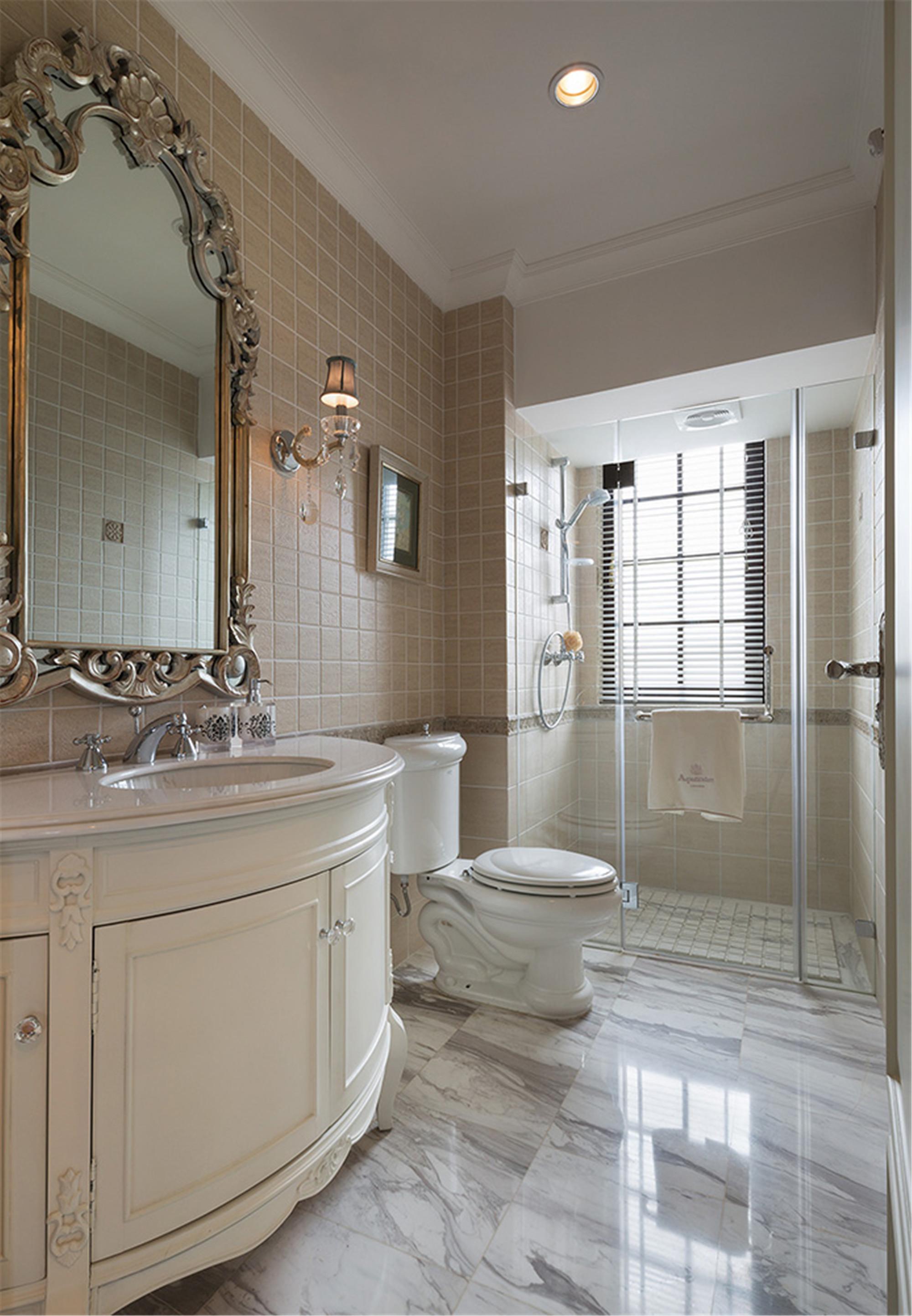 新古典风格别墅装修卫生间设计图