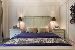 160平法式装修卧室背景墙图片