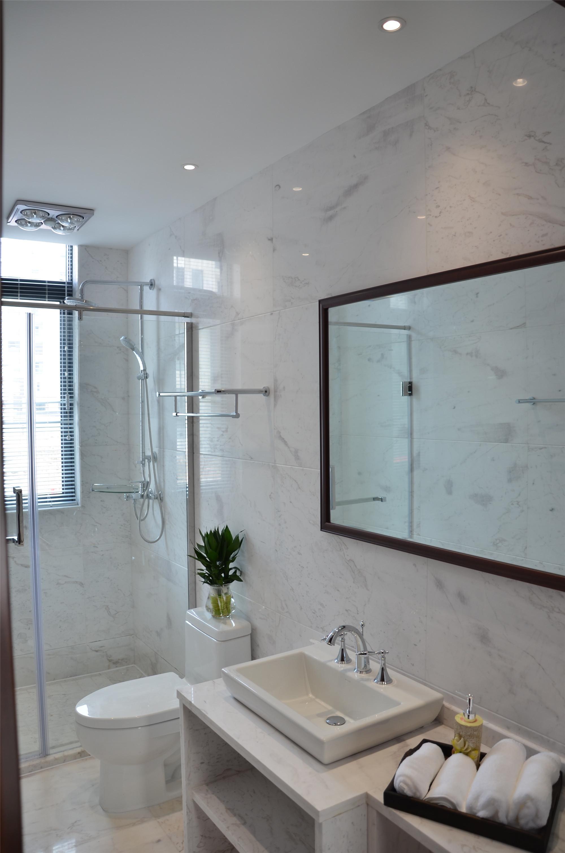 新中式风格三居室装修卫生间设计图