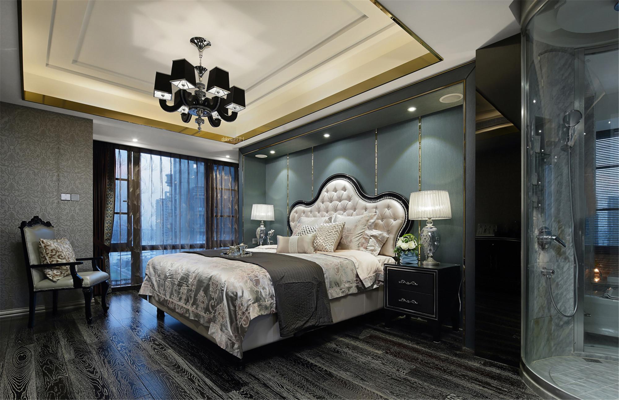 大户型现代奢华风装修卧室搭配图