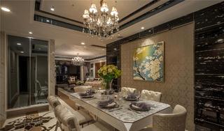 大户型现代奢华装修餐厅效果图
