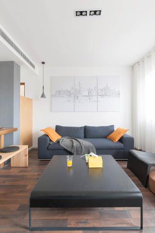 简约复式公寓沙发背景墙图片