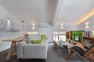简约复式公寓设计书房布置图