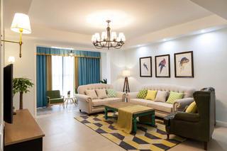 120平简美四居装修客厅设计图