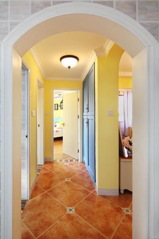 90㎡地中海风格家走廊图片